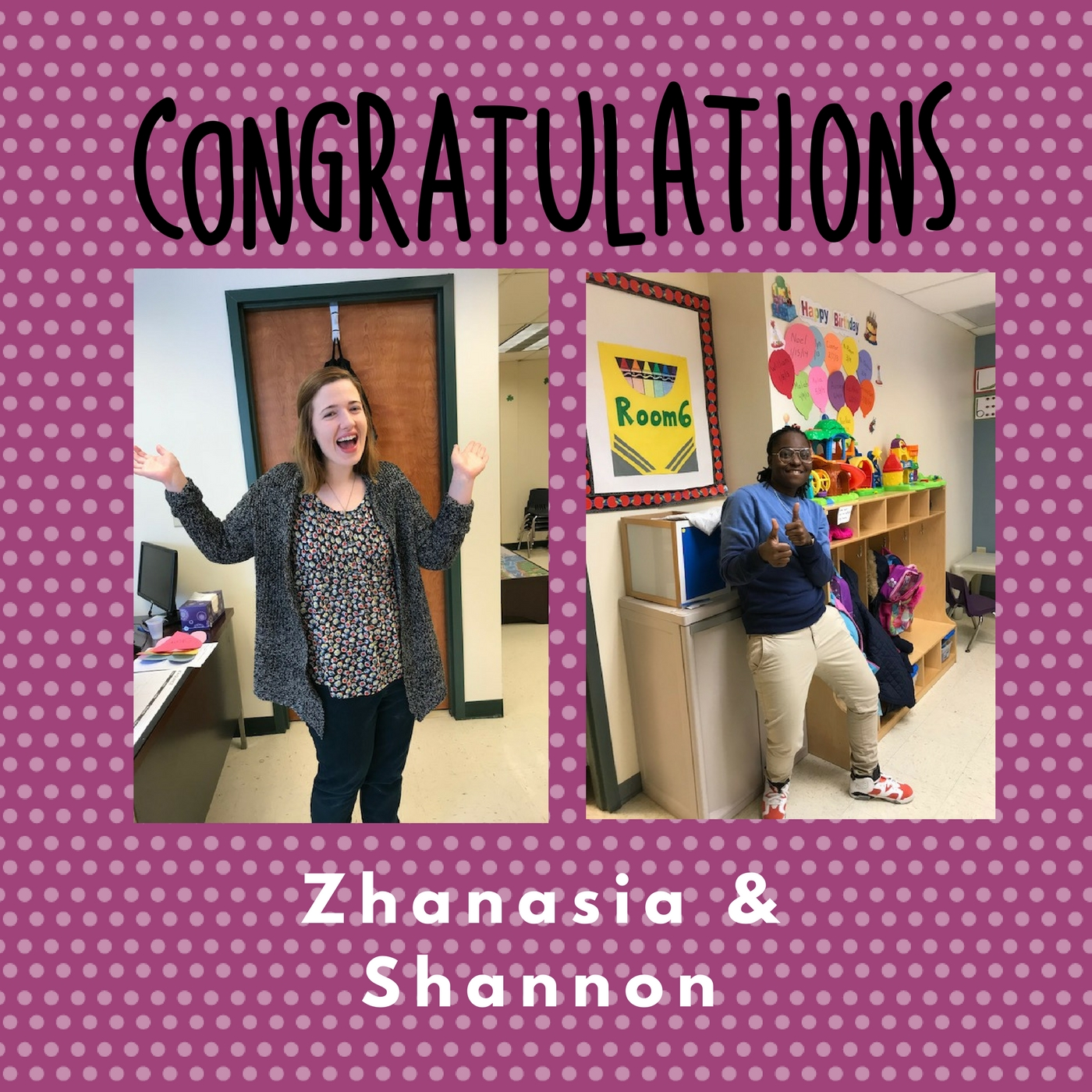 Congratulations On Ta Certification To Zhanasia And Shannon